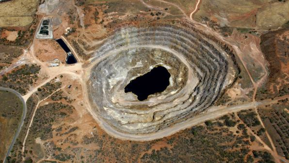 Kanmantoo Copper Mine – Arial View Of Pit