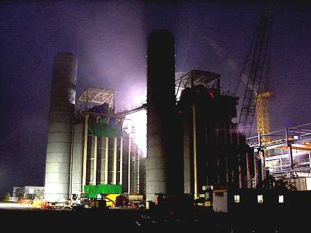 Pelican Point Power Station – HRSG in fog